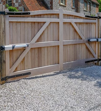 automatic wooden gate - Big Easy Fences