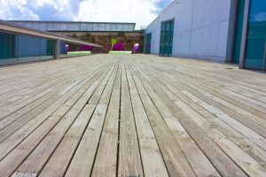 commercial outdoor decking in New Orleans - Big Easy Fences