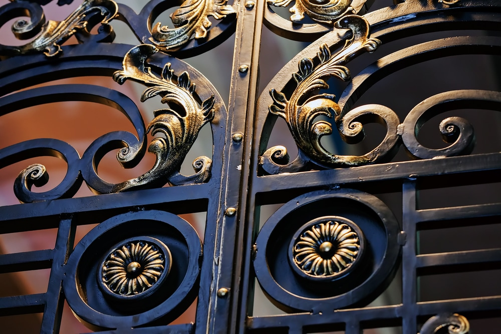 new orleans commercial wrought iron fence